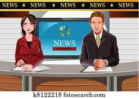 fernsehnachrichten, anker