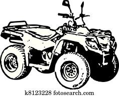 Clip Art Of All Terrain Vehicle Quad Motorbike K26098688 Search