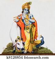 image of hindu god Krishna