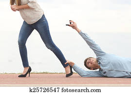Man being rejected when is proposing marriage