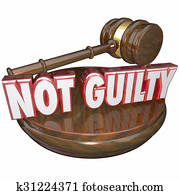 Not Guilty Judge Decision Acquital Innocent Verdict