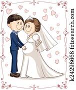Pregnant Couple Wedding Invitation