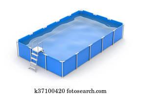 Square swimming pool