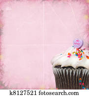 Stock Illustration Of Heart Cupcake K3961889 Search Vector Clipart
