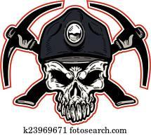 coal miner skull