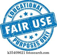 Fair use rubber stamp