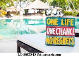 Stock Photograph Of Meaningful Quotes On Swimming Pool K31319989