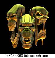 Laughing Demon Skulls