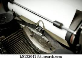 c6d16163b98 Old vintage typewriter with russian keyboard Stock Photograph ...
