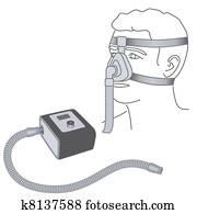 Sleep Apnea, CPAP, Nose Mask