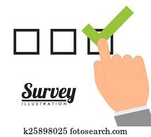 Survey design, vector illustration.