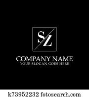 SZ logo designs, simple letter logo inspiration