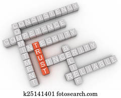 3d image Trust issues concept word cloud background