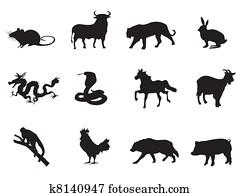 chinesisches horoskop, heiligenbilder