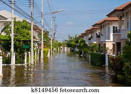 house flood in Thailand