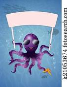 Octopus in the sea for summertime