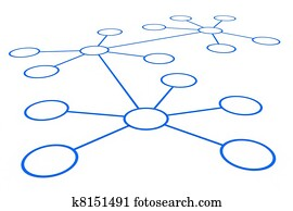 Abstract network connection.