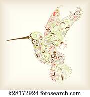 abstrakt, kolibri