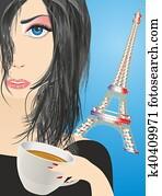 coffee in Paris,