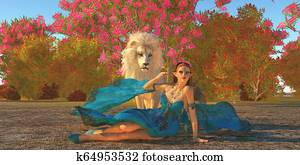 Fairy Glymmer and White Lion