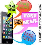 Fake News smart phone