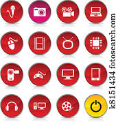 Multimedia icons.