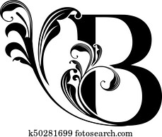 stylized letter b