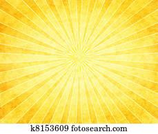 Yellow Sunburst on Paper
