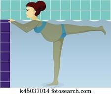 Aqua aerobics for pregnant
