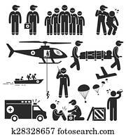Emergency Rescue Team Stick Figure