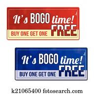 Bogo coupon, voucher, tag