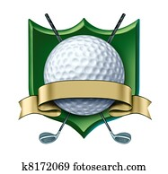 Golf Award crest with blank gold label