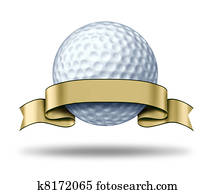 Golf Award with blank gold label