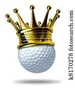Golf tournament champion