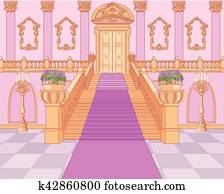 Luxury Staircase in Magic Palace