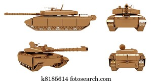 Military Gold Tank