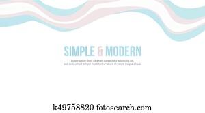 Abstract header website banner modern style