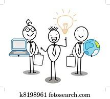 Businessman Idea Team work