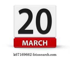 Cubes calendar 20th March