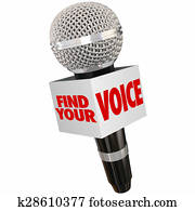 Find Your Voice Share Opinion Microphone