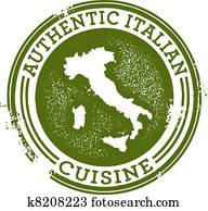 authentisch, italienische speise