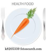 healthy food icon. vector illustration