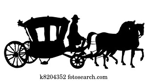 horse and carriage rococo