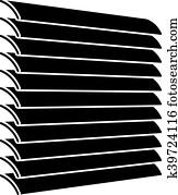 Clip Art Vektor Jalousie Fenster Schwarz Symbole K9488546