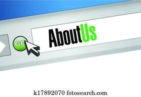 about us browser illustration design artwork