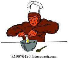 Ape Man in the Kitchen