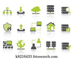 grün, netz- bediener, hosting, heiligenbilder