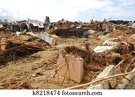 House Destroyed by Typhoon Flood