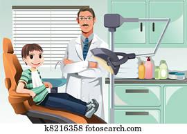 Kid in dentist office