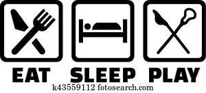 Lacrosse Eat Sleep Play